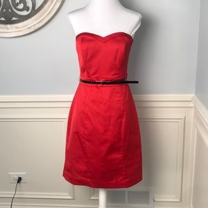 H&M Red Strapless Dress.